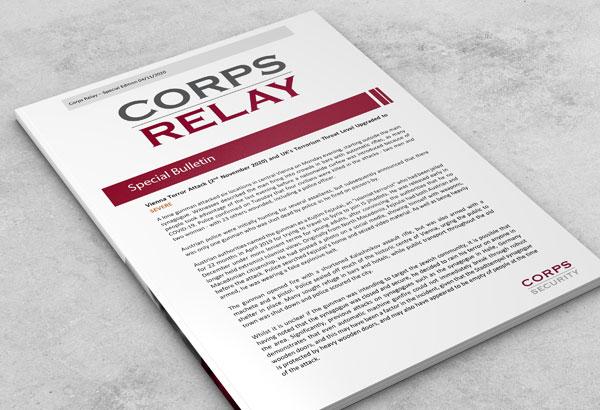 Corps Relay Special Bulletin Vienna Terror Attack